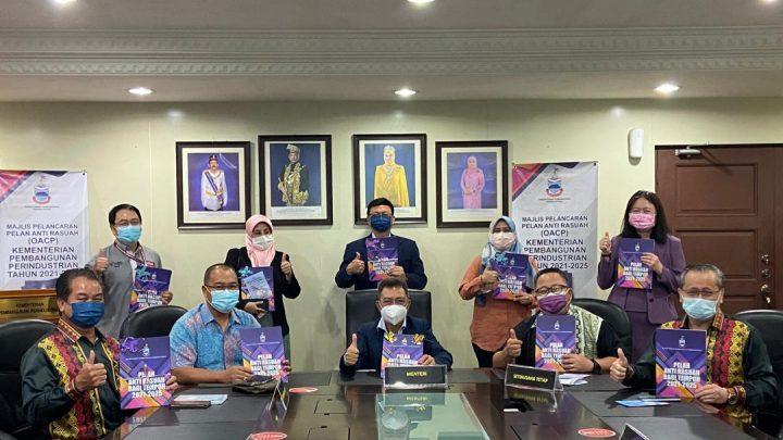 Pelan Anti Rasuah Organisasi    Kementerian Pembangunan Perindustrian  dilancar