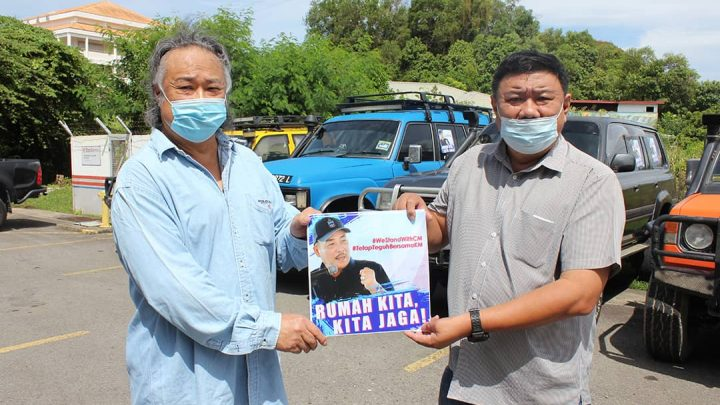 A car sticker campaign launched to support CM following the new SOP issue