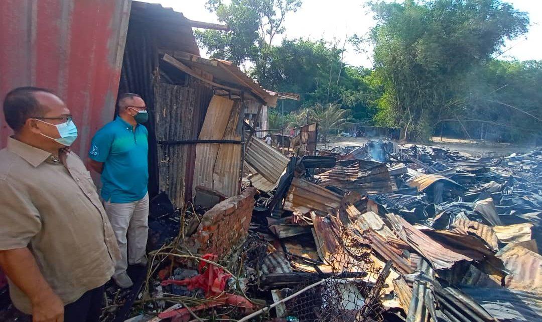 Rumah Kongsi Terbakar, 48 keluarga  hilang tempat tinggal