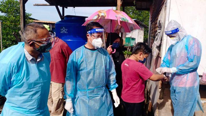 JPBD dan JKN teruskan  pengesanan  kes aktif  COVID 19 di lokaliti setinggan Kampung Saguking