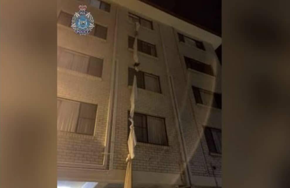 COVID-19: Lelaki nekad ikat cadar di tingkat 5 untuk lari dari bilik kuarantin