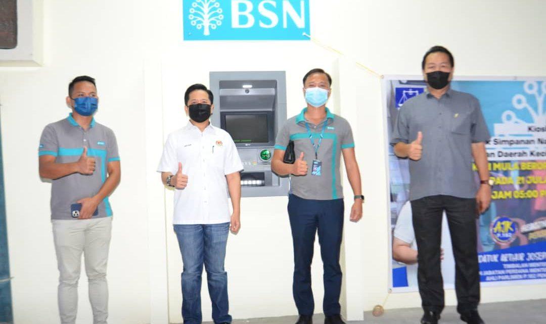 Kiosk ATM BSN Daerah Kecil Sook, kini beroperasi sepenuhnya