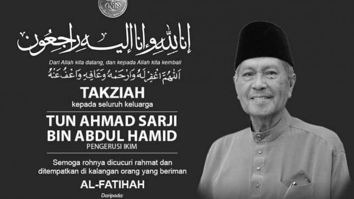 Bekas KSN, Tun Ahmad Sarji meninggal dunia