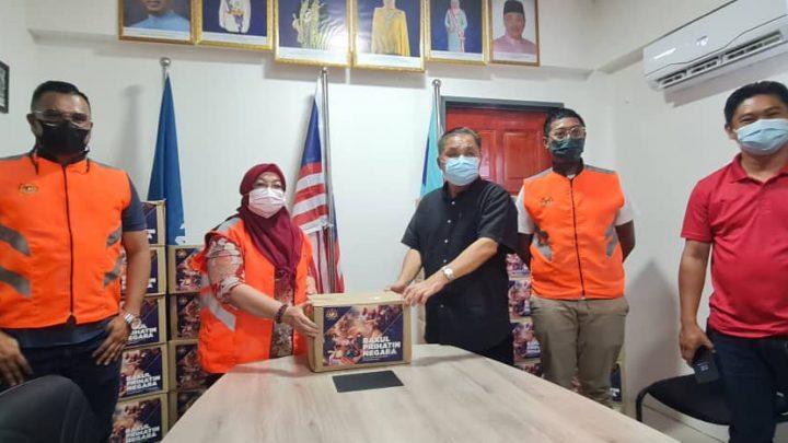 JKM salur bantuan bakul makananPrihatin Negarakepada ADUN Bingkor.