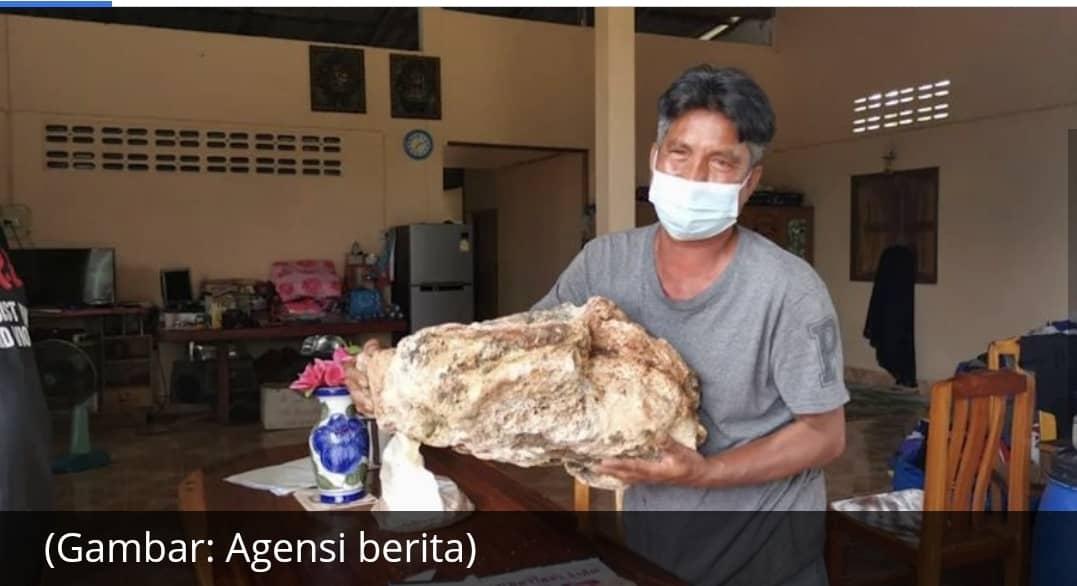 Nelayan Thailand temui 'emas terapung', muntah ikan paus bernilai AS$1.2 juta