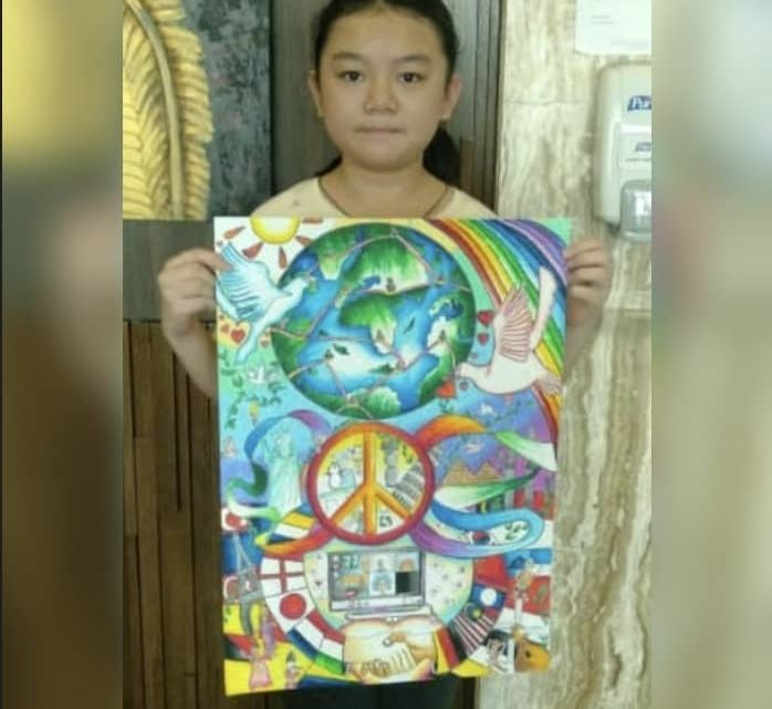 SRJK (C) CHI WEN WINS LOCAL COMPETITION IN LIONS INTERNATIONAL PEACE POSTER CONTEST